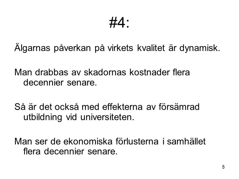 26 Källa: Lohmanders sammanställning av data från figur tryckt i: Mattsson, L., Viltets jaktvärde - En ekonomisk analys, SLU, Inst.