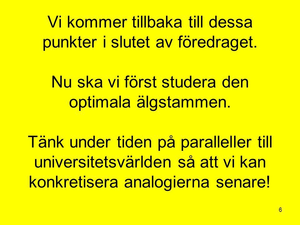 57 REDAN KÄNDA OMSTÄNDIGHETER: Utbildningens omvägar – En ESO-rapport om kvalitet och effektivitet i svensk utbildning av Elin Landell, Ola Gustafsson, Dan Grannas (2000) http://www.regeringen.se/content/1/c4/38/47/049a64d6.pdfhttp://www.regeringen.se/content/1/c4/38/47/049a64d6.pdf Intressanta åtgärdsförslag: Förbättra kvaliteten i grund- och gymnasieskolan.