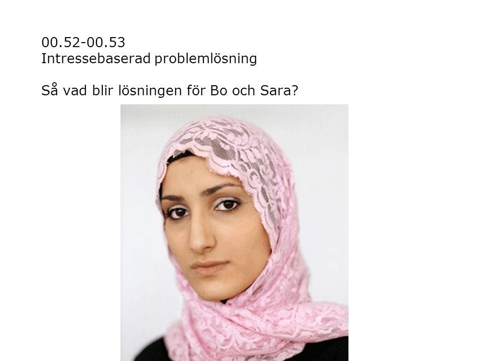 00.52-00.53 Intressebaserad problemlösning Så vad blir lösningen för Bo och Sara?