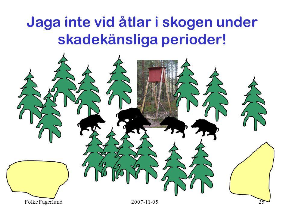 Folke Fagerlund2007-11-0525 Jaga inte vid åtlar i skogen under skadekänsliga perioder!