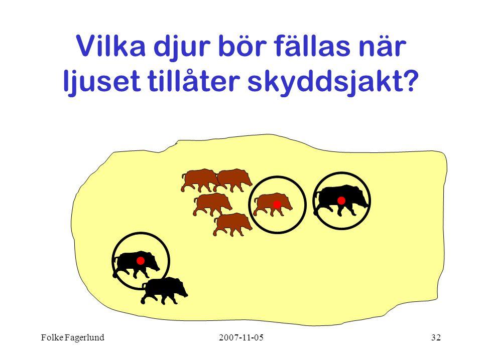 Folke Fagerlund2007-11-0532 Vilka djur bör fällas när ljuset tillåter skyddsjakt?