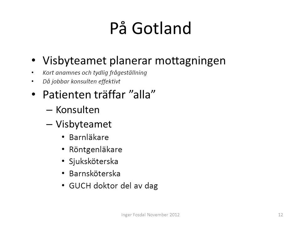 """På Gotland • Visbyteamet planerar mottagningen • Kort anamnes och tydlig frågeställning • Då jobbar konsulten effektivt • Patienten träffar """"alla"""" – K"""