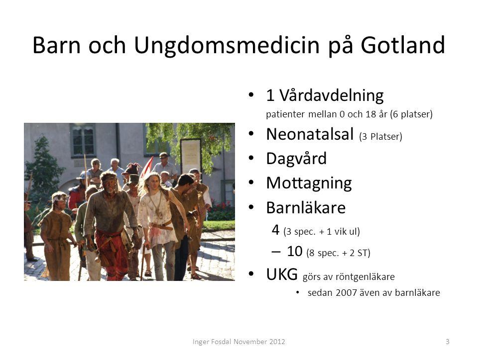 Barn och Ungdomsmedicin på Gotland • 1 Vårdavdelning patienter mellan 0 och 18 år (6 platser) • Neonatalsal (3 Platser) • Dagvård • Mottagning • Barnl