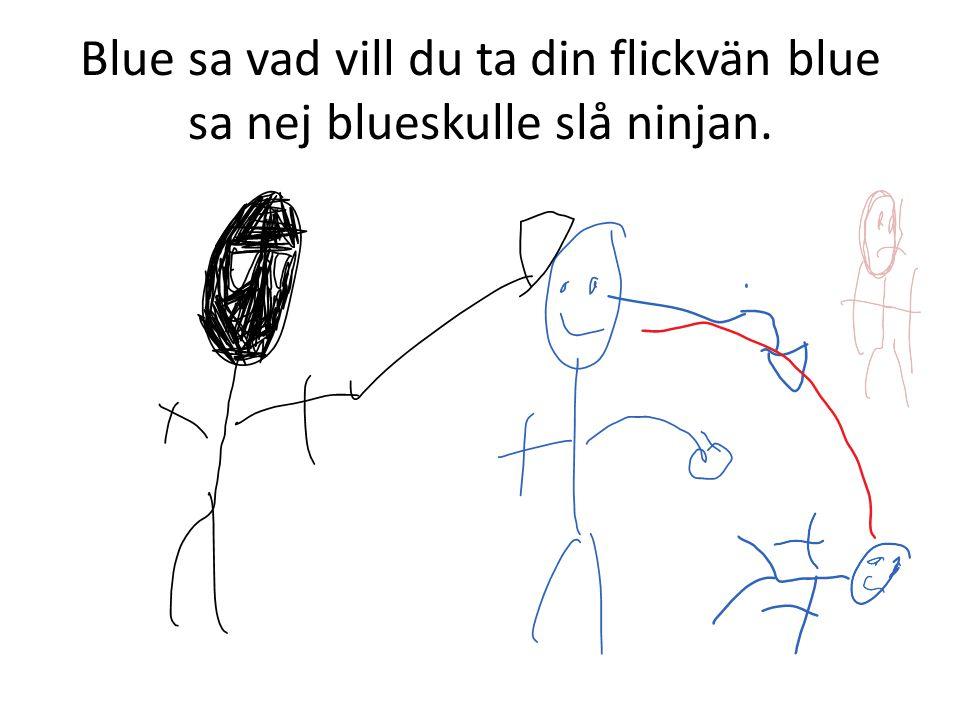 Blue sa vad vill du ta din flickvän blue sa nej blueskulle slå ninjan.