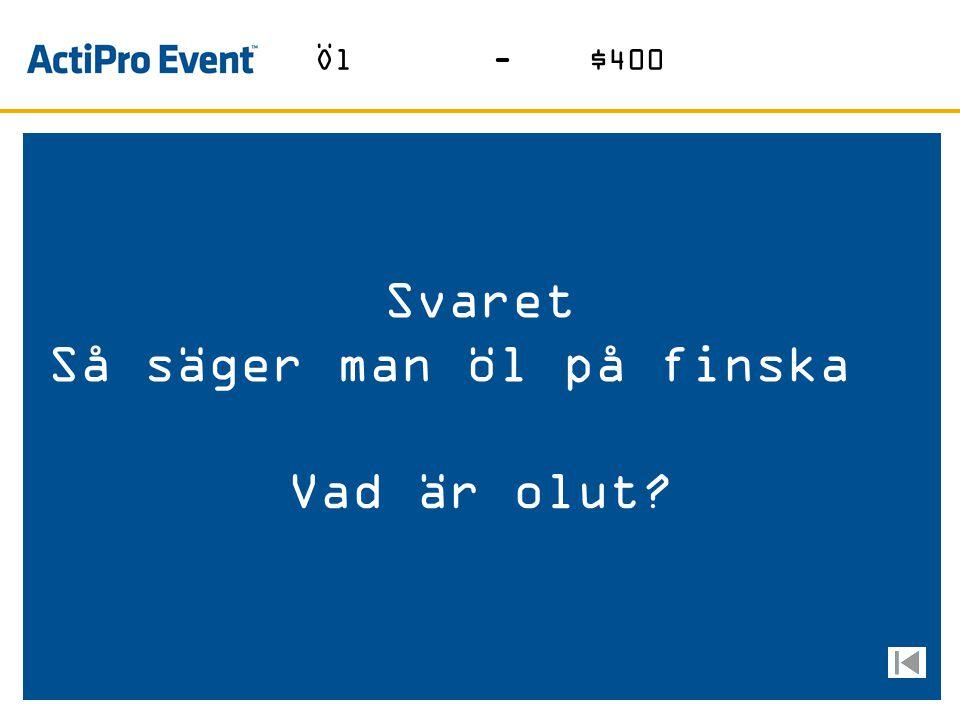 Svaret Östergötlands mest kända ölsort Vad är Runöl Öl-$300
