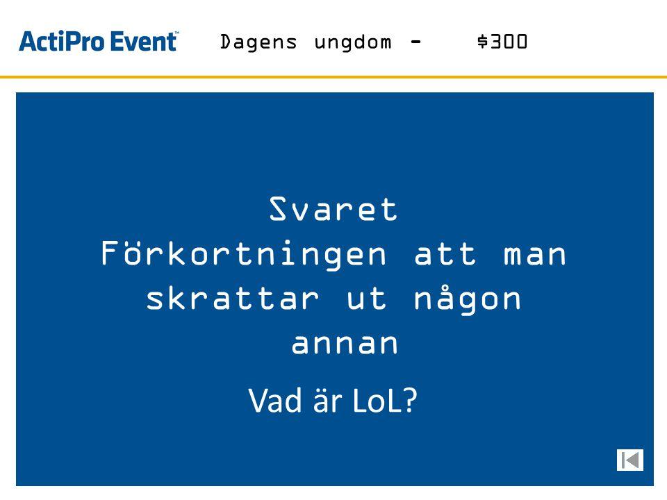 Svaret Östergötlands mest kända ölsort Vad är Runöl? Öl-$300