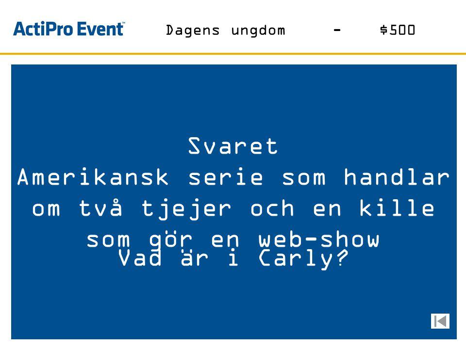 Svaret Norskt bryggeri i Carlsbergskoncernen med säte i Oslo Vad är Ringnes? Öl-$500