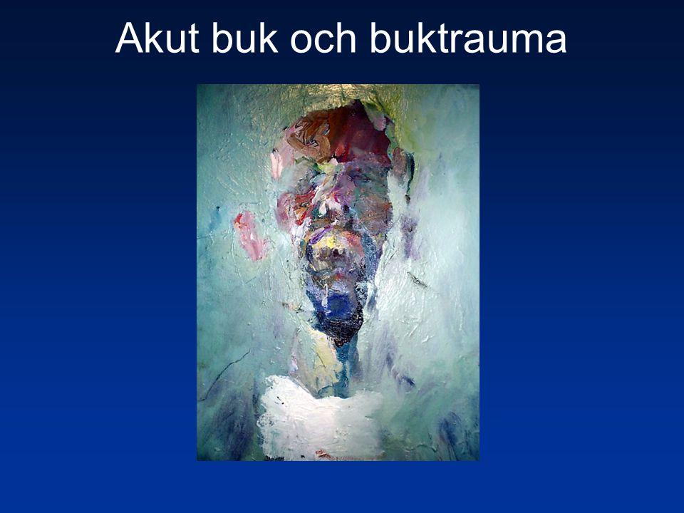 Fall 8 Intestinal ischemi Lab Kraftig leukocytos Laktat stegrat Utredning CT, angiografi Åtgärd Op.