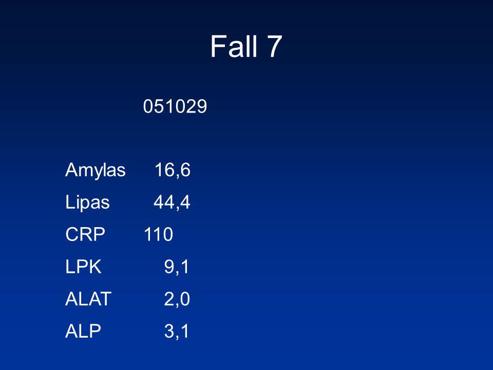 051029 Amylas 16,6 Lipas 44,4 CRP110 LPK 9,1 ALAT 2,0 ALP 3,1