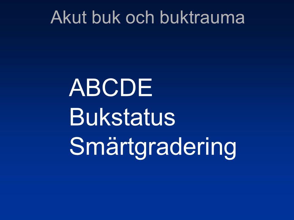 ABCDE Bukstatus Smärtgradering