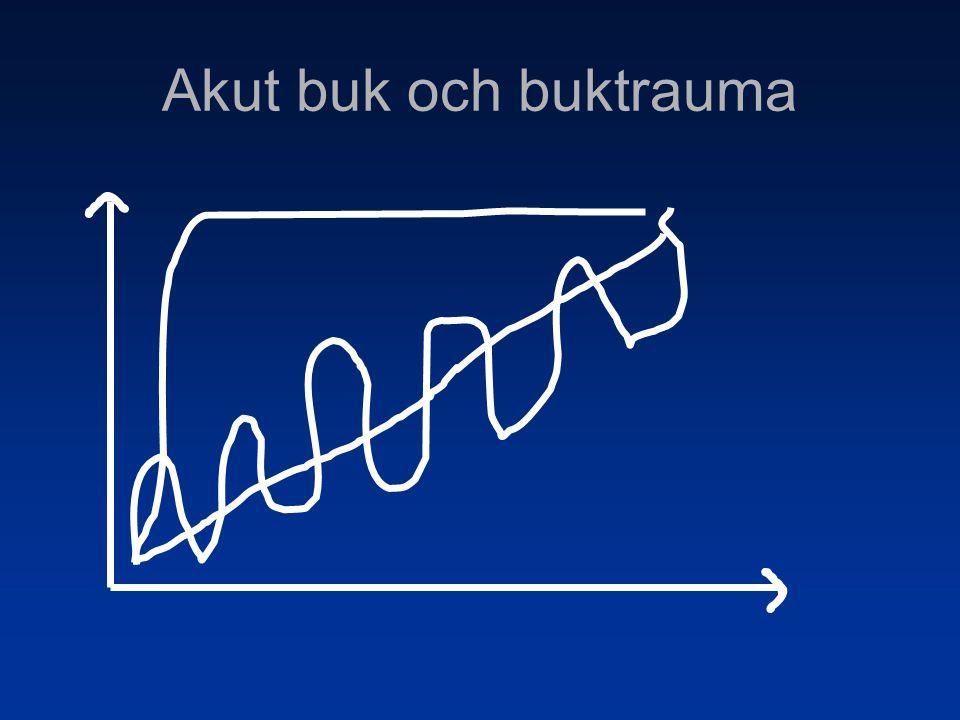 Fall 8 AT Smärtpåverkad, blek, svettig Buk Allmänt ömmande men mjuk, peritonit.
