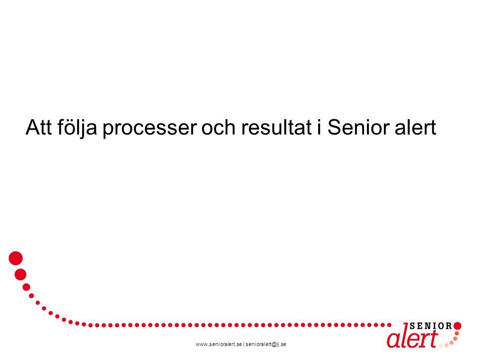 www.senioralert.se | senioralert@lj.se Att följa processer och resultat i Senior alert