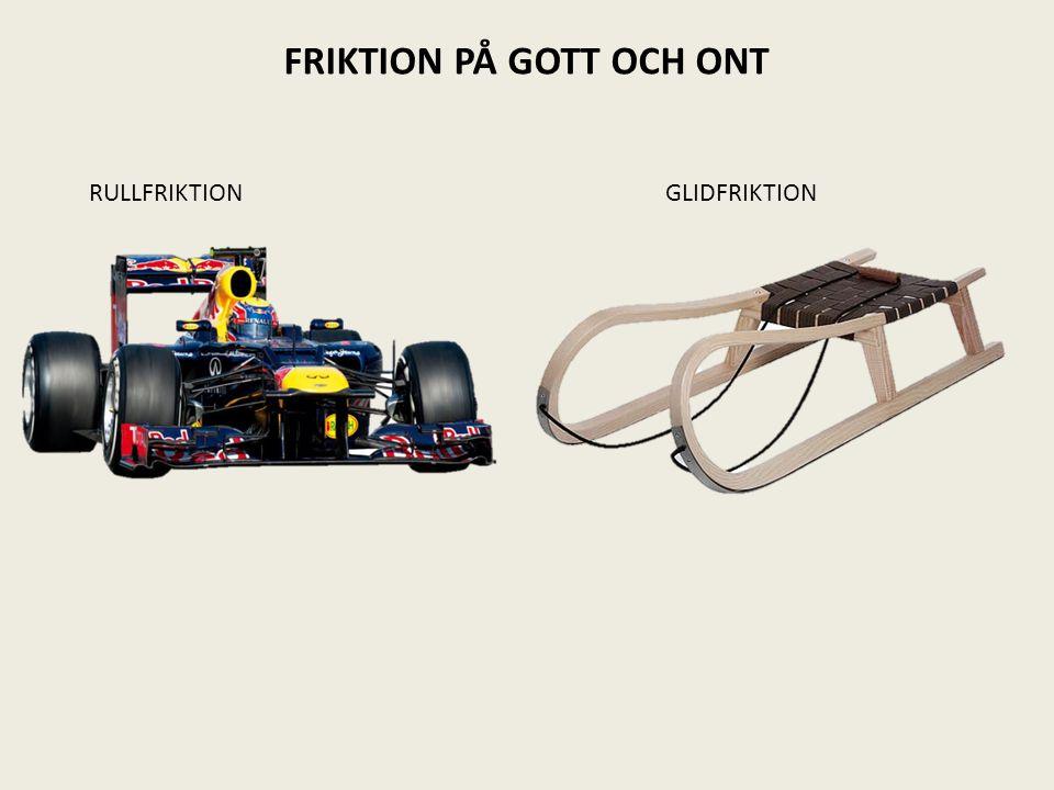 FRIKTION PÅ GOTT OCH ONT RULLFRIKTION GLIDFRIKTION