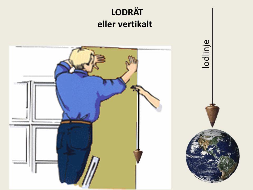 LODRÄT eller vertikalt lodlinje