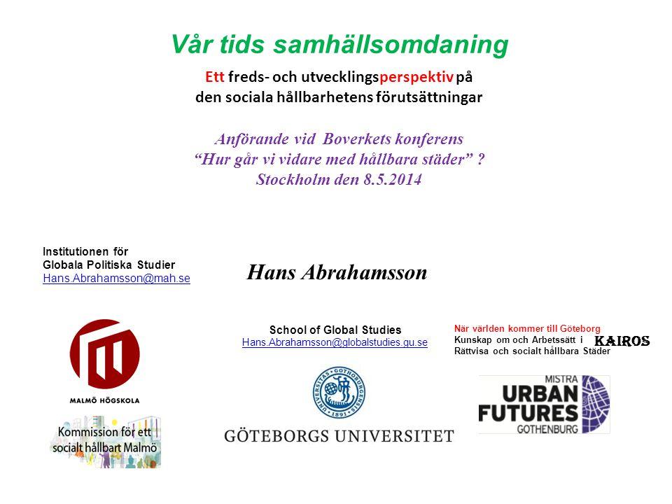 Anförande vid Boverkets konferens Hur går vi vidare med hållbara städer .