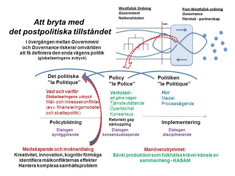 """Policy """"le Police"""" Verkstad - att göra något Tjänsteutlåtande Opartiskhet Konsensus Politiken """"le Politique"""" Hur Medel Processägande Det politiska """"la"""