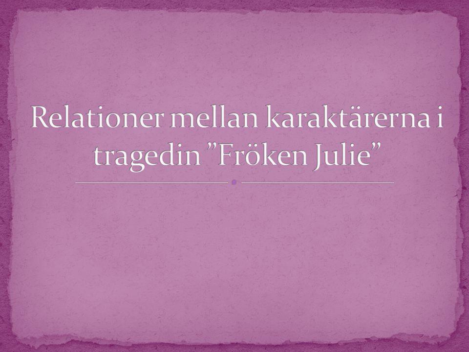  I tragedin Fröken Julie finns det många starka karaktärer.