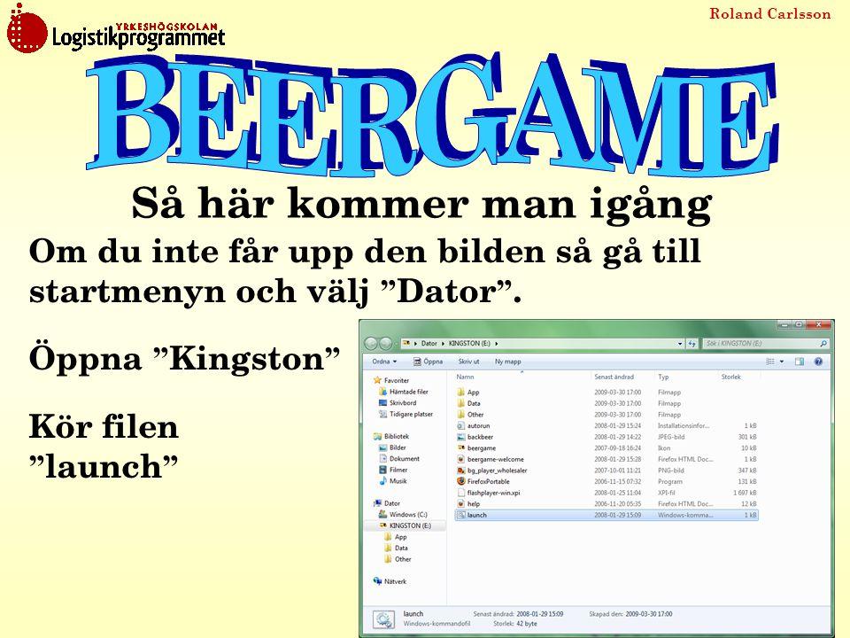 """Roland Carlsson Om du inte får upp den bilden så gå till startmenyn och välj """" Dator """". Öppna """" Kingston """" Kör filen """" launch """" Så här kommer man igån"""