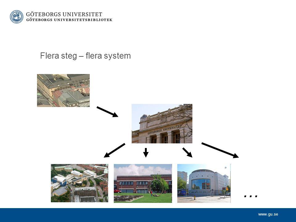 www.gu.se Flera steg – flera system …