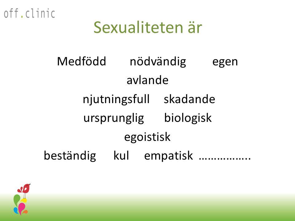 Sexualiteten är Medfödd nödvändig egen avlande njutningsfull skadande ursprunglig biologisk egoistisk beständig kul empatisk …………….. Off.Clinic 2012