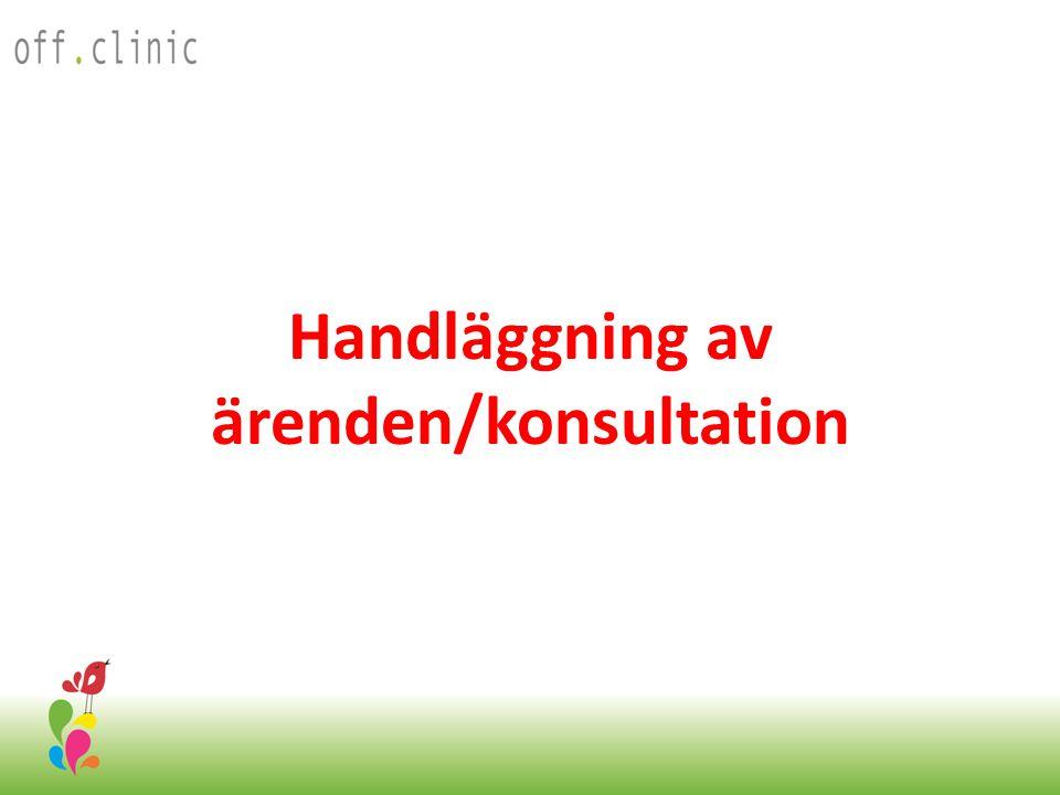 Handläggning av ärenden/konsultation