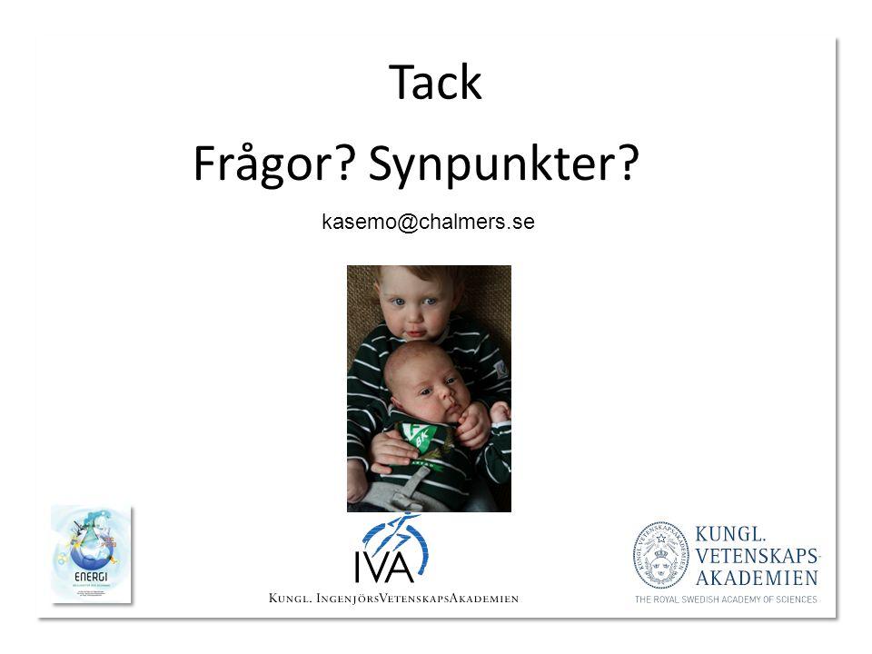 Tack Frågor? Synpunkter? kasemo@chalmers.se