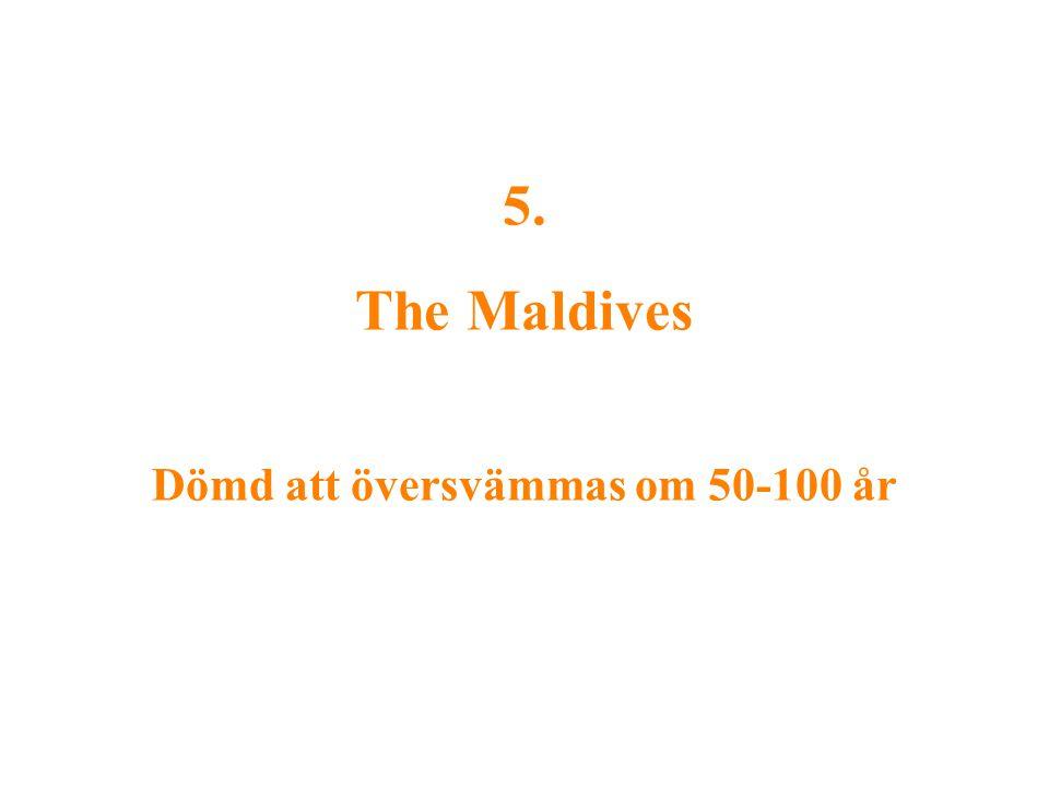5. The Maldives Dömd att översvämmas om 50-100 år