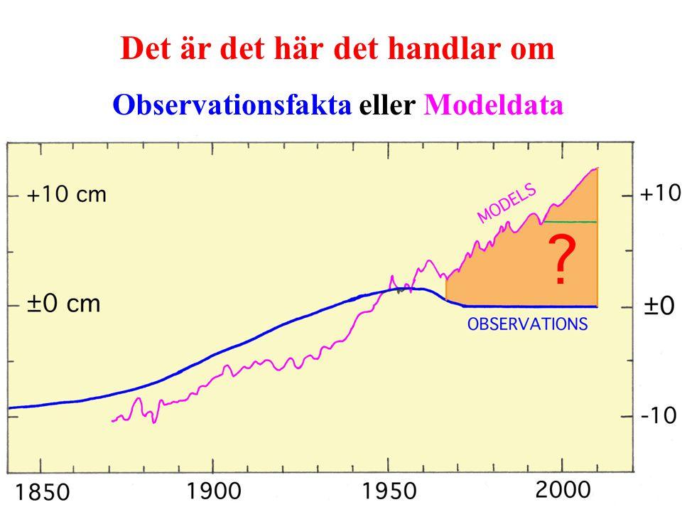 Det är det här det handlar om Observationsfakta eller Modeldata
