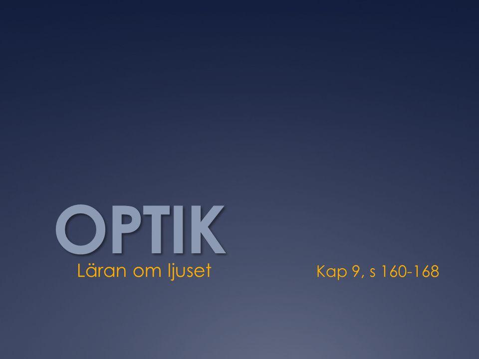 OPTIK Läran om ljuset Kap 9, s 160-168