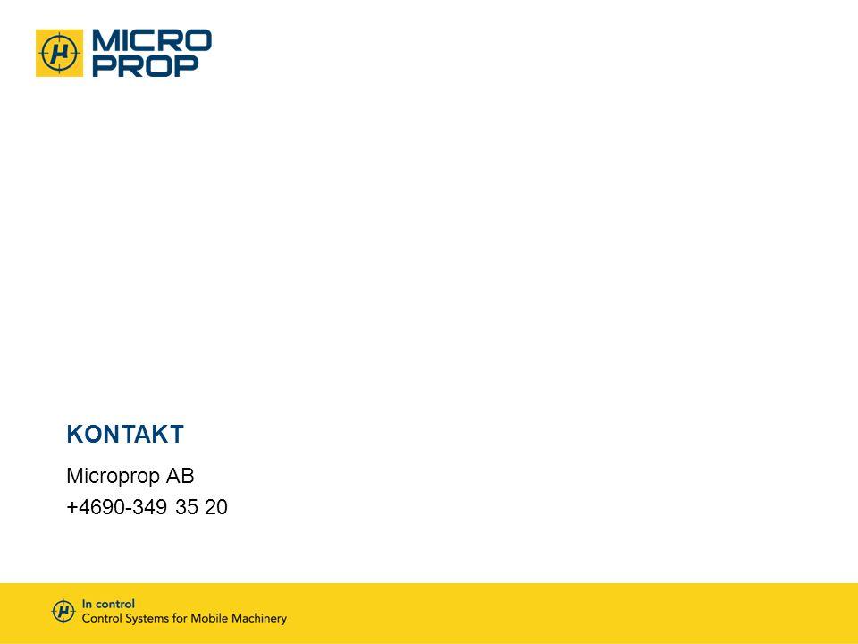 Microprop AB +4690-349 35 20 KONTAKT