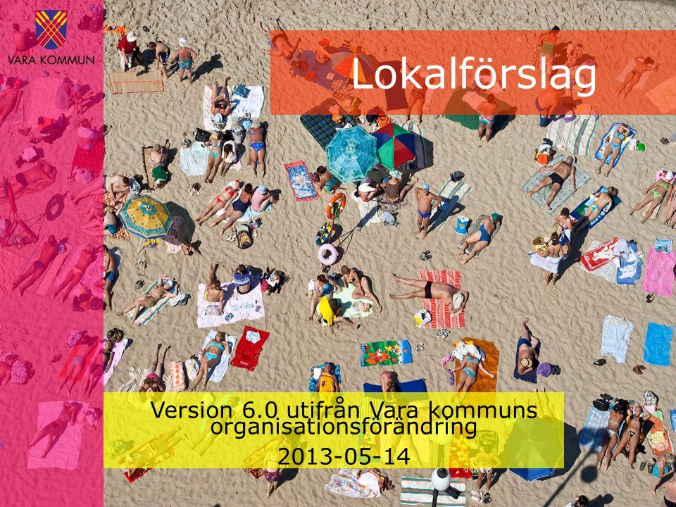 Lokalförslag Version 6.0 utifrån Vara kommuns organisationsförändring 2013-05-14