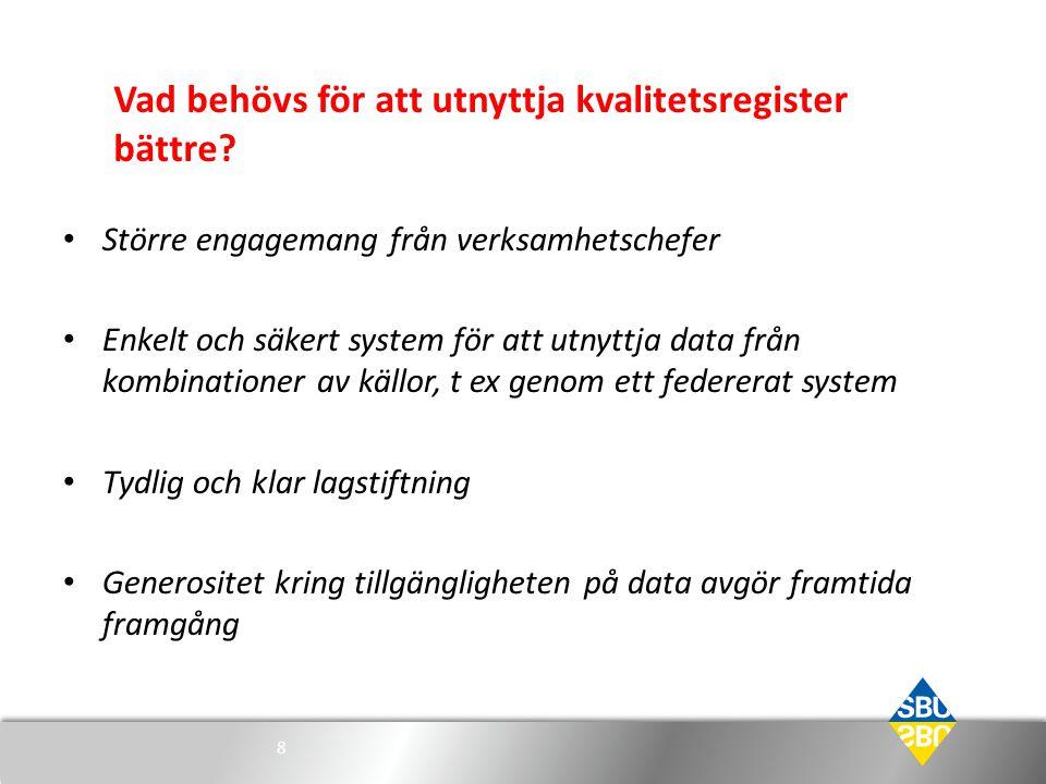 Vad ska vara Sveriges nisch.