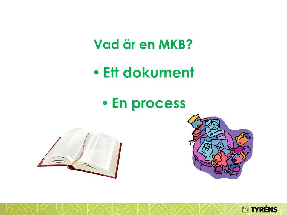 Vad är en MKB? • Ett dokument • En process