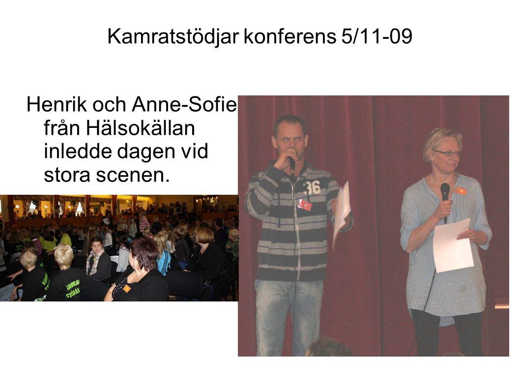 Kamratstödjar konferens 5/11-09 Henrik Ståhl tog vid efter Anne-Sofies och Henriks presentation.