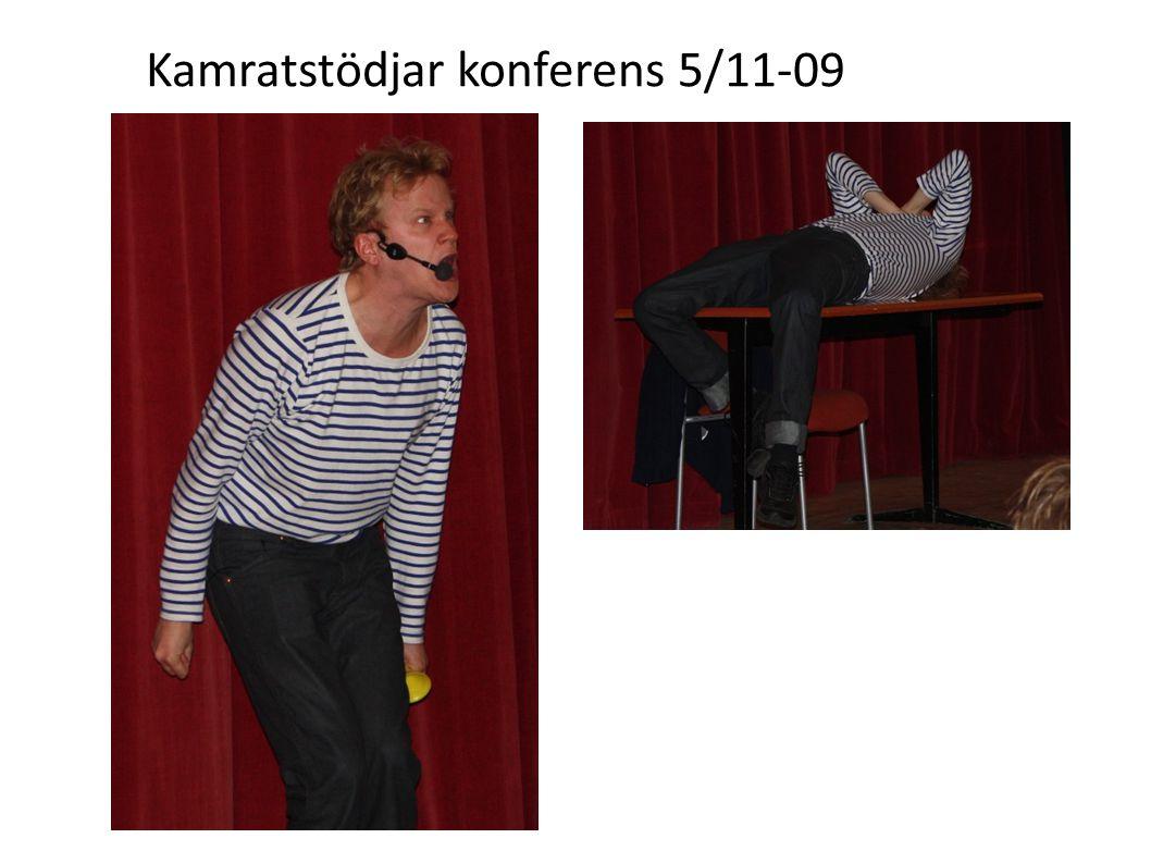 När Henrik Ståhl var klar med sin pjäs var det dags för en kort paus innan det var dags för de olika Workshops som kamratstödjarna deltog i.