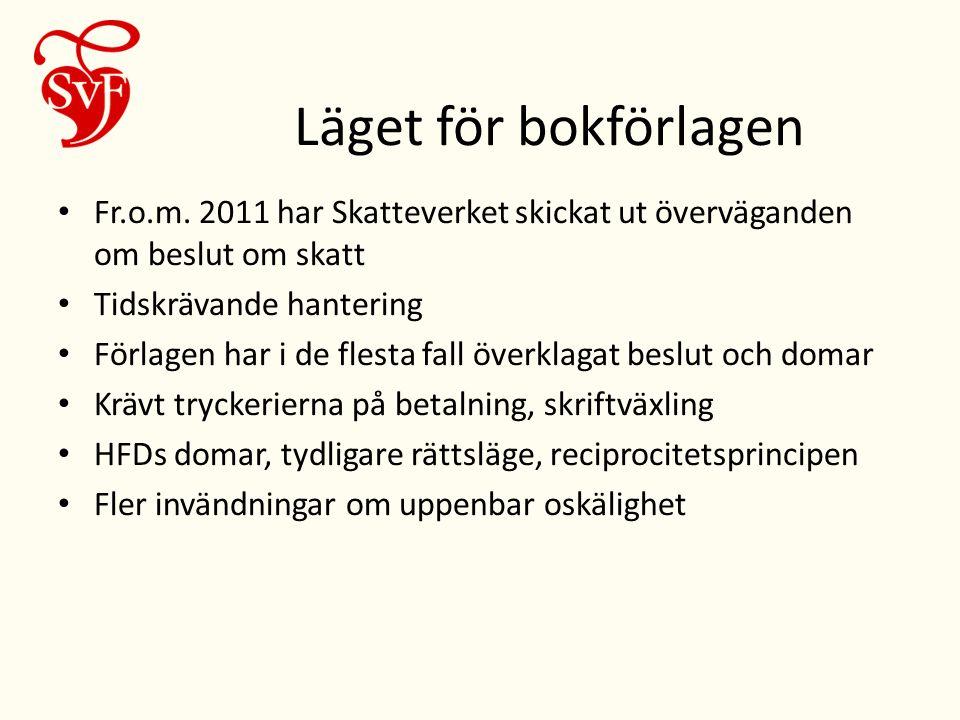 Läget för bokförlagen • Fr.o.m.