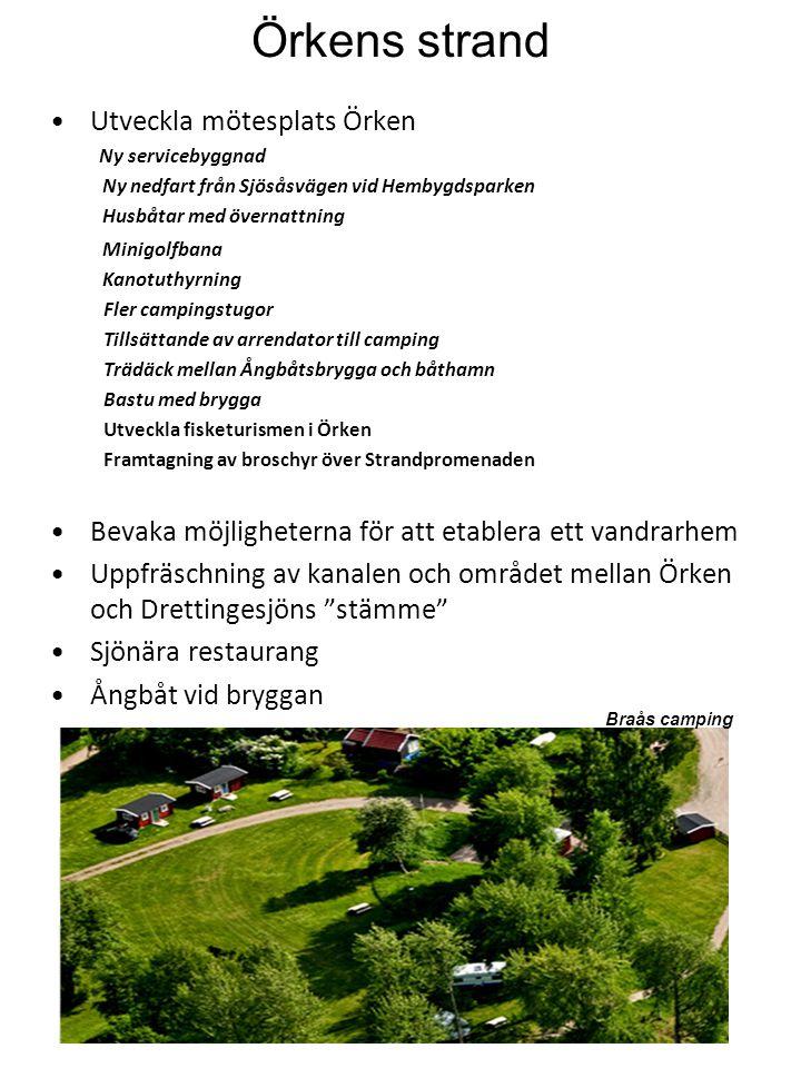 Konst - kultur •Utveckla Strandparken (runt minnesmärket för smalspåret) •Belyst fontän utanför Ångbåtsbryggan •Utsmyckning av Braås Torg •Initiera teater & musik aktiviteter