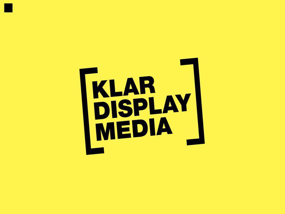 KLAR Display media En bild betyder så mycket.