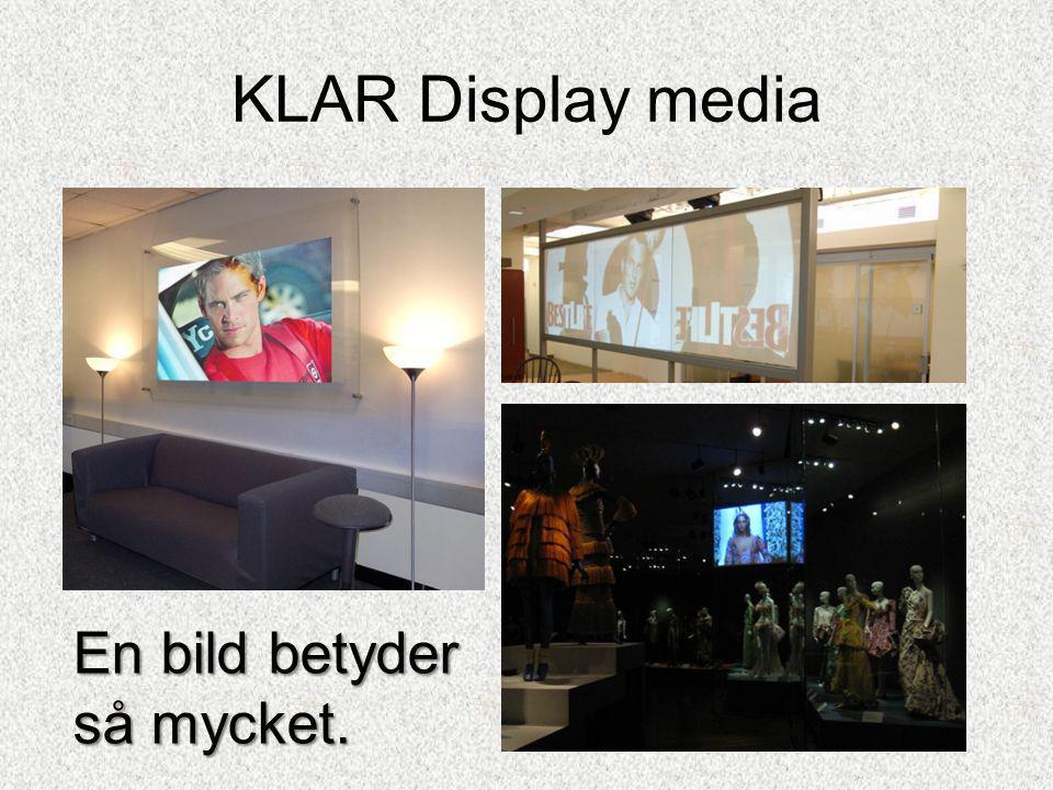 KLAR Display media Mobil touchscreen med ljudInformationsskärm touch screen