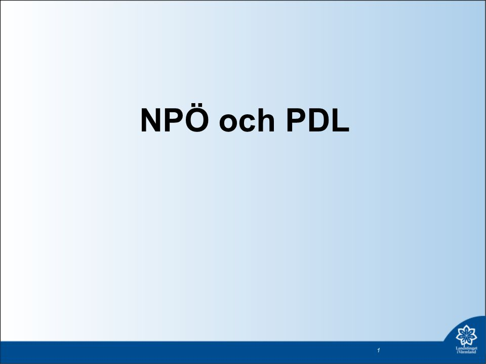 NPÖ och PDL 1 1