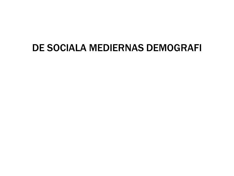 DE SOCIALA MEDIERNAS DEMOGRAFI