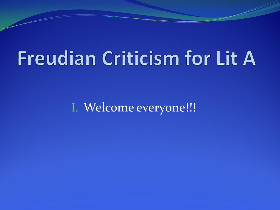I. Welcome everyone!!!