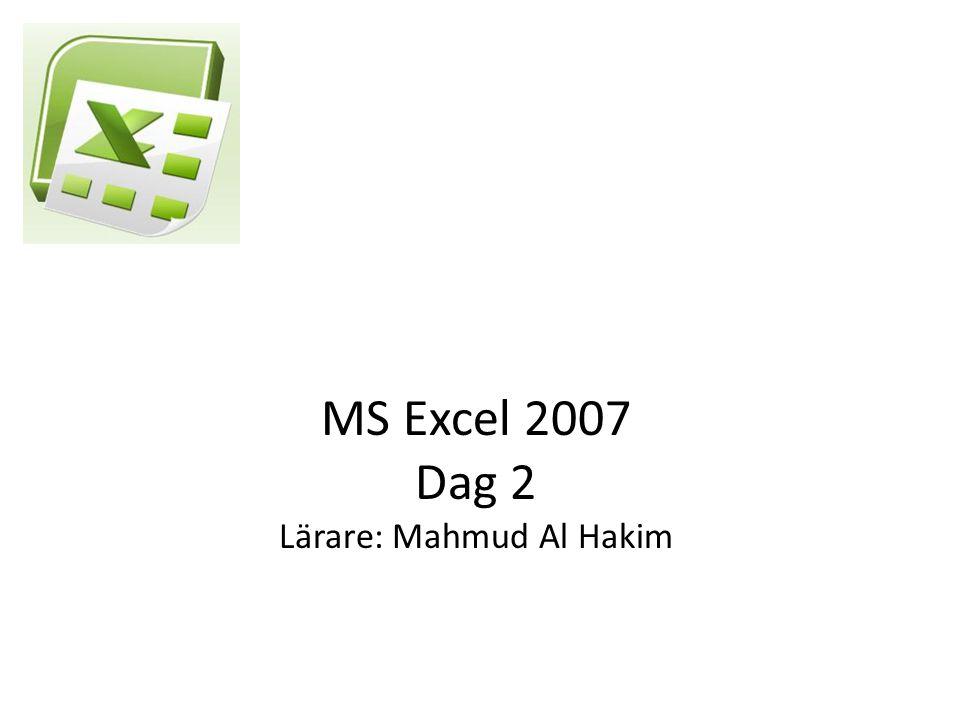 Kör ett makro på flera kalkylblad Copyright 2010, www.hakimdata.se, Mahmud Al Hakim 32