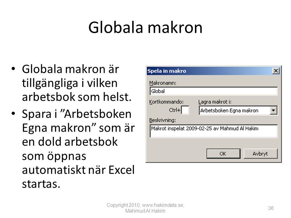 Globala makron • Globala makron är tillgängliga i vilken arbetsbok som helst.