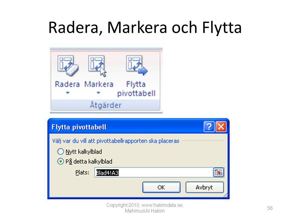 Radera, Markera och Flytta Copyright 2010, www.hakimdata.se, Mahmud Al Hakim 56