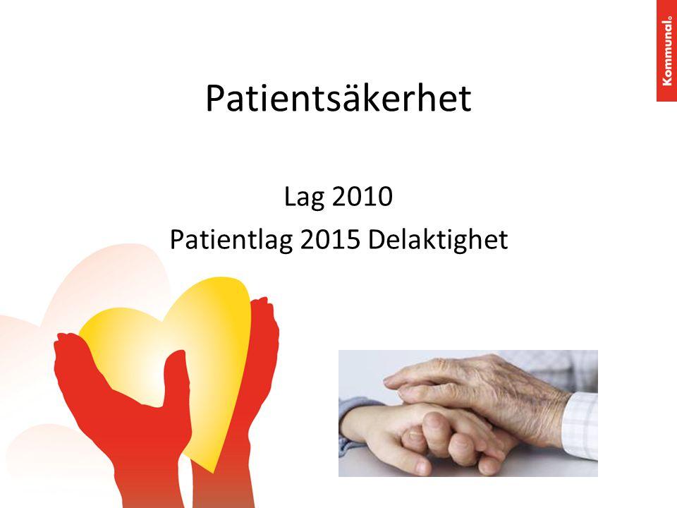 Patientsäkerhet Lag 2010 Patientlag 2015 Delaktighet