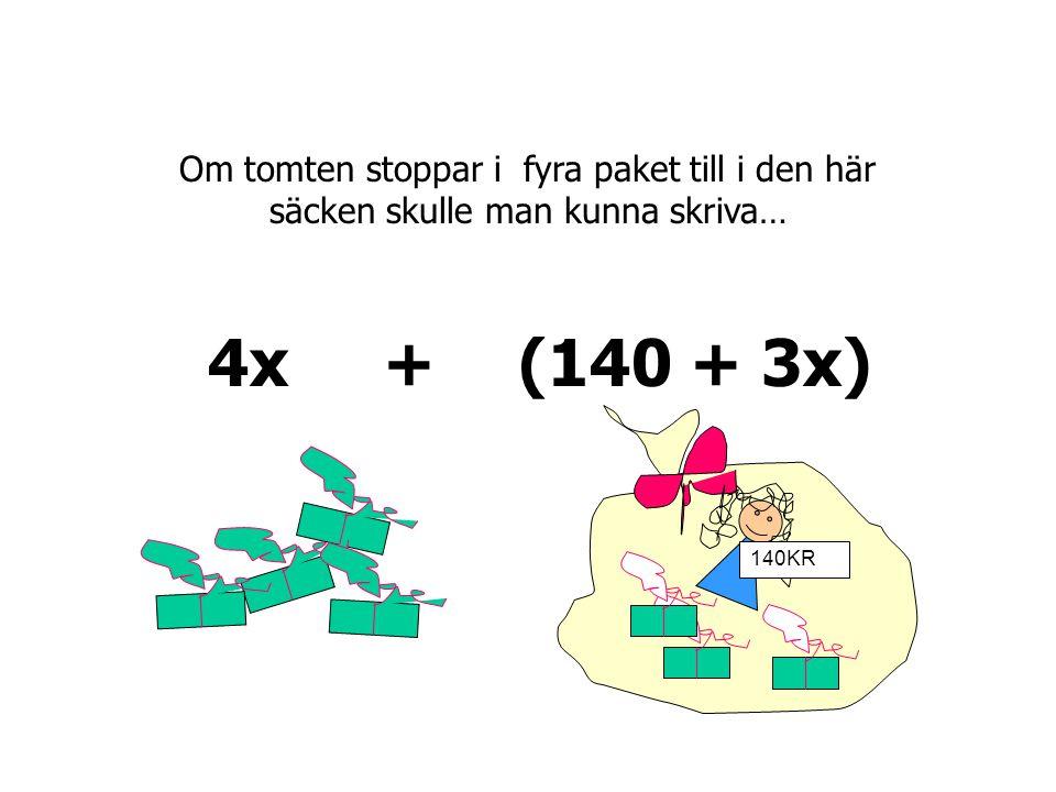 250 kr 140KR (140 + 3 x)(250 + 5 x)