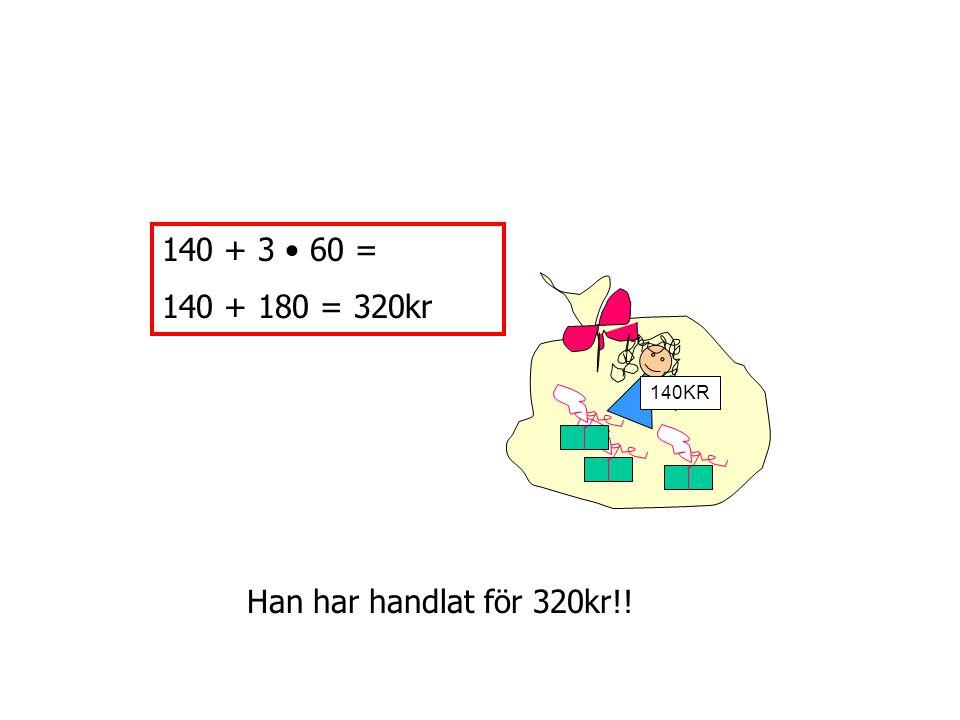 560 + 33x – ( 140 + 7x ) När man ska ta bort det som står i en parentes betyder det att man ska ta bort varje del i parentesen.