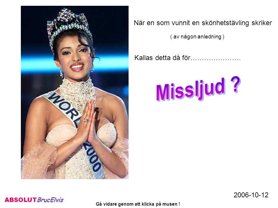 ABSOLUT BrucElvis 2006-11-16 Gå vidare genom att klicka på musen !