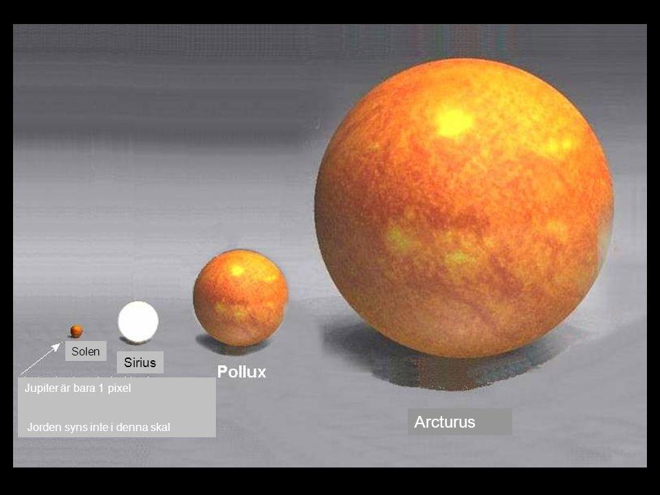 Solen Sirius Arcturus Jupiter är bara 1 pixel Jorden syns inte i denna skal